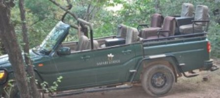 Jeeps canters and elephants are three modes of transport within the BTR