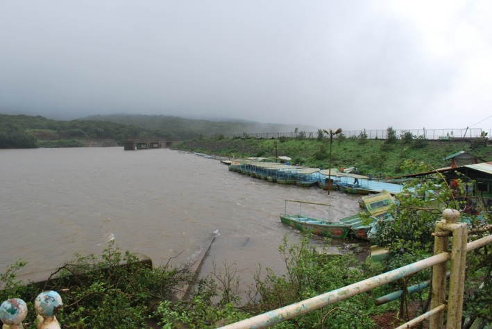 the peshwa lake minus the mist and clouds