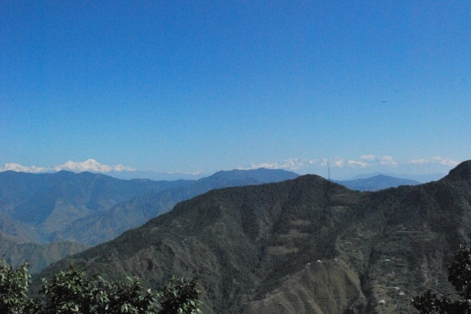 Glorious snow capped Gangotri Range