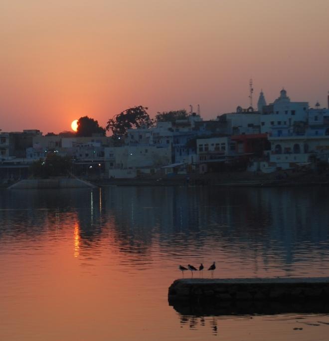 sunset from badri ghat pushkar