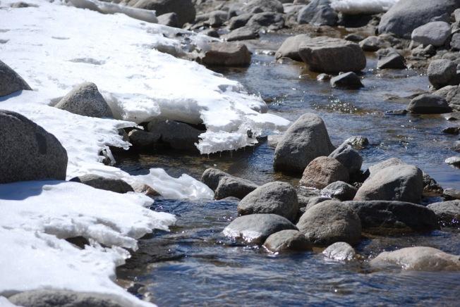 glistening river