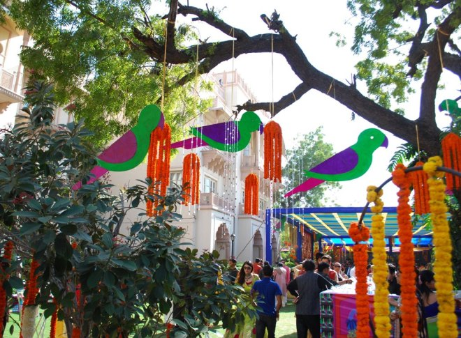 parrots and neem trees