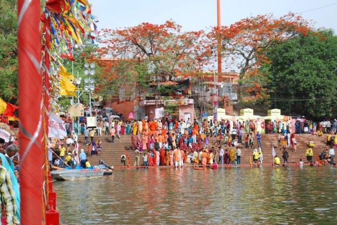 ghats in saffron